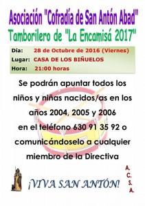 Eleccion tamborilero 2017